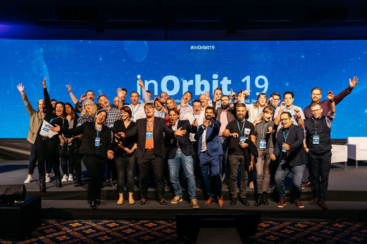 inOrbit speakers celebrating a successful conference