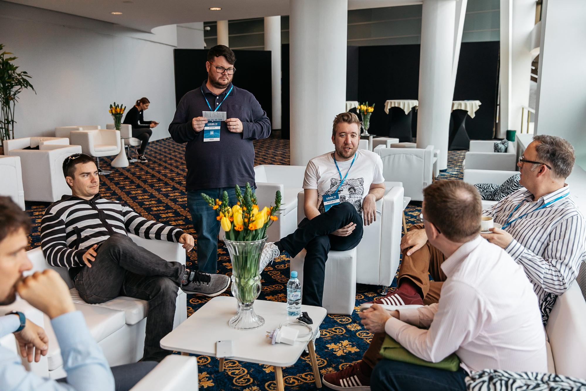 inOrbit conference speakers reception