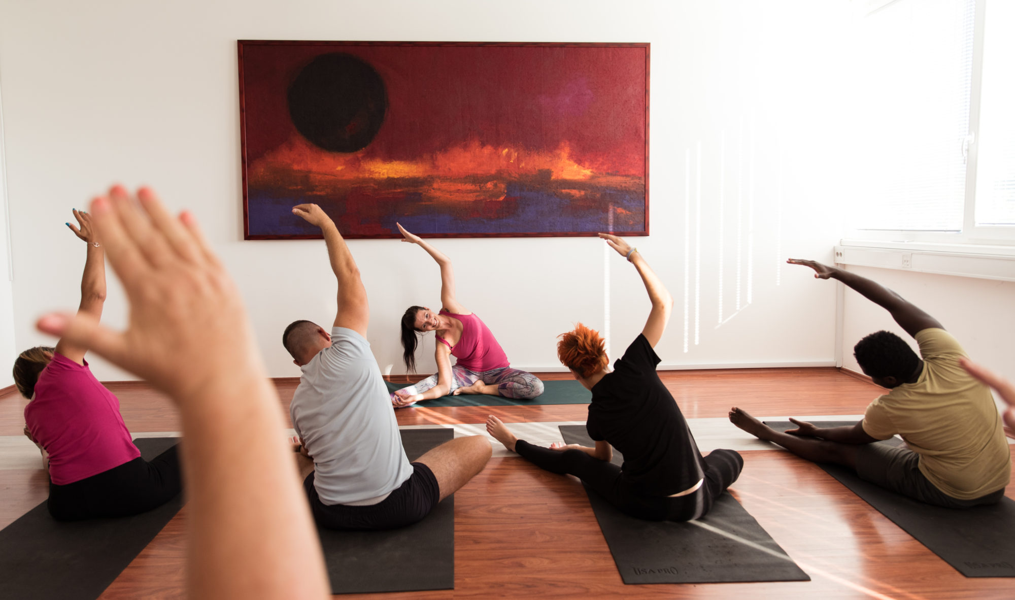 inOrbit 20 conference yoga class