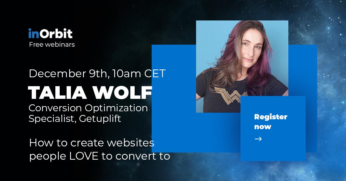 Talia Wolf inOrbit webinar speaker