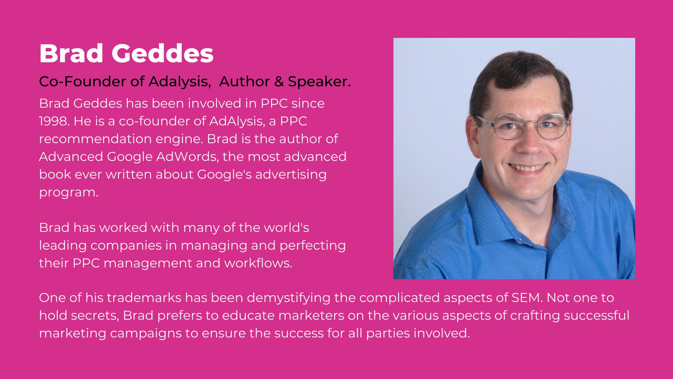 Brad Geddes inOrbit webinar speaker