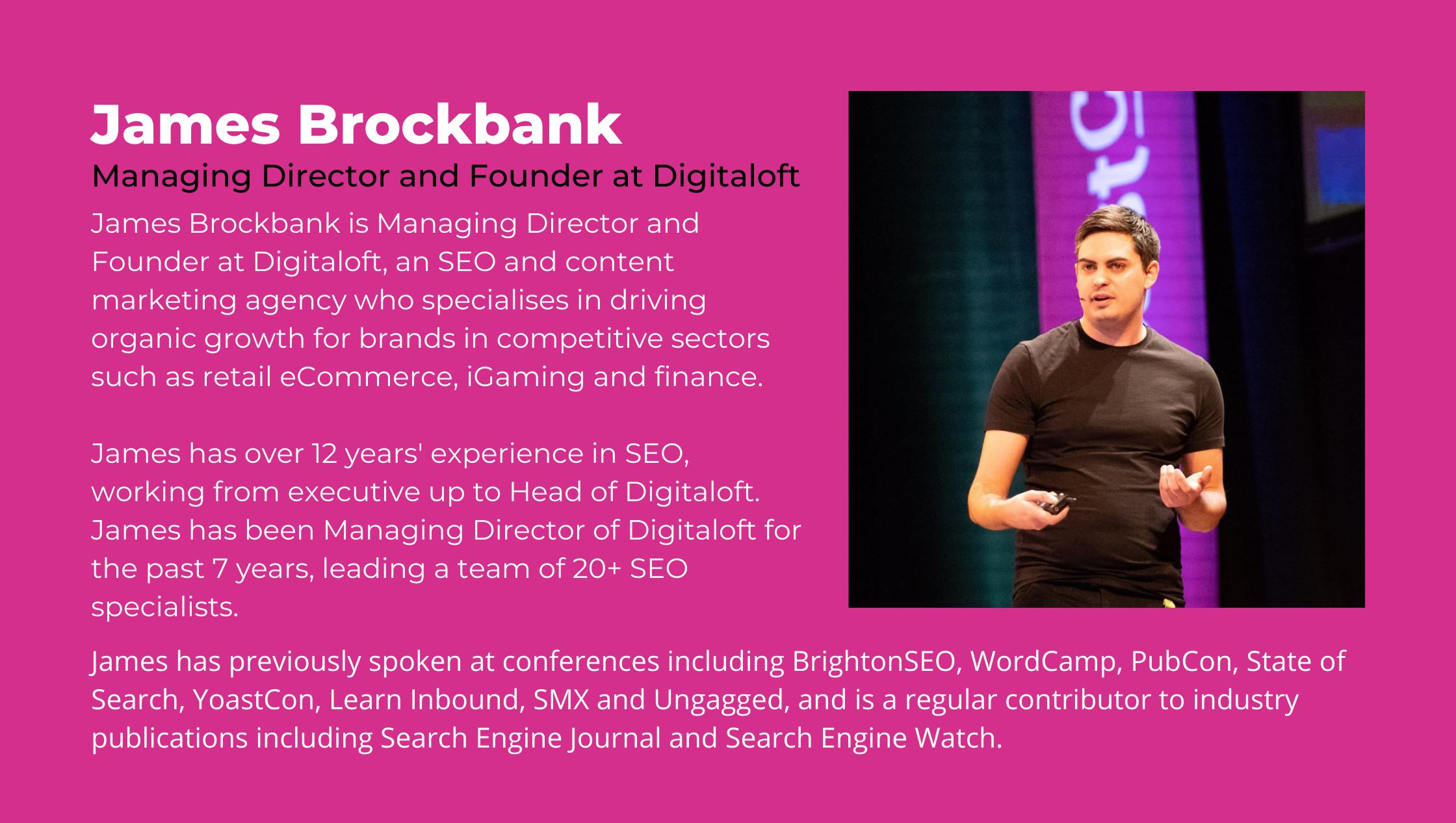 James Brockbank inOrbit speaker webinar