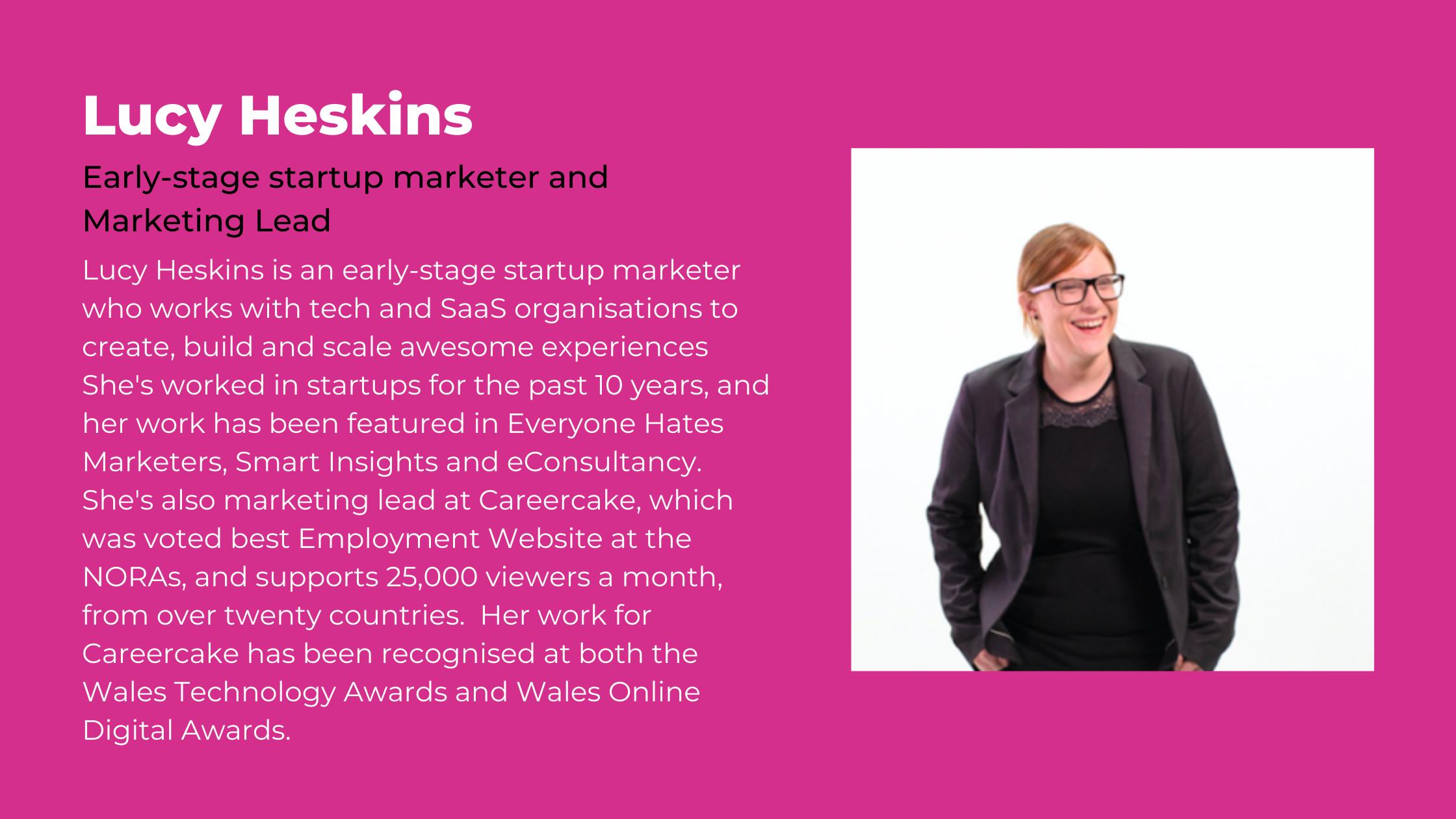 Lucy Heskins inOrbit speaker webinar